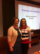 Gabrielle Fitzpatrick, EFDNI, with Mary McLaughlin, Derry and Strabane Council